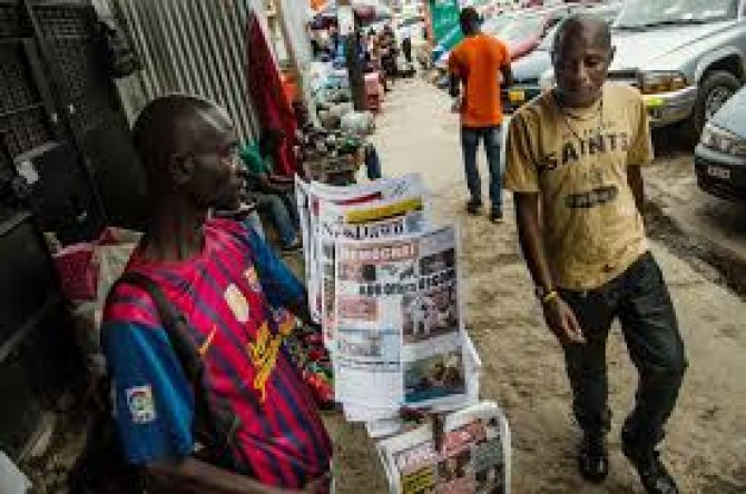 Img : Liberian newspapers zoom on death of Indian doctor in Nimba County fire, others