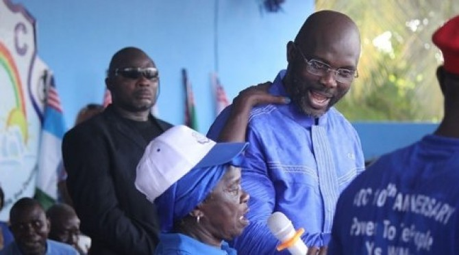 Img : Liberian poll: Second time lucky for George Weah?