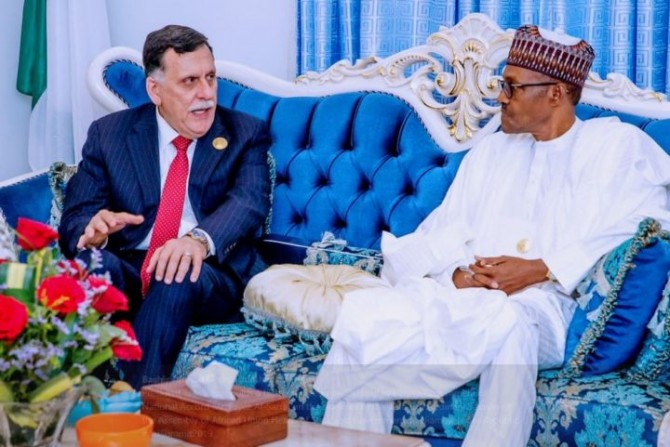 Img : Nigerian leader pledges support for peace, stability in Libya