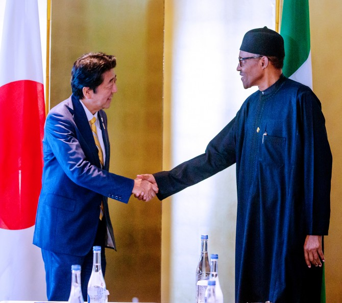 Img : Buhari seeks Japan's assistance in fighting piracy in Gulf of Guinea