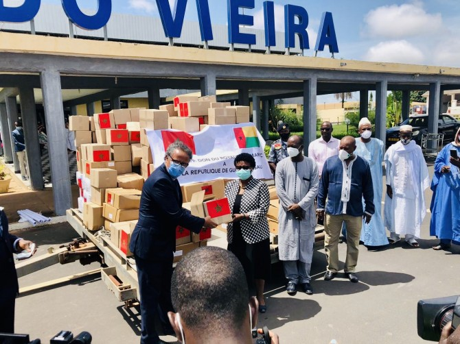 Img : G/Bissau receives anti-Covid-19 items from Morocco