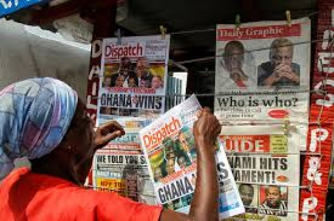 Img : Ghana: Press highlights launching of opposition NDC manifesto, others