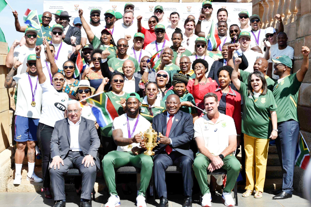 S/Africa: World rugby champions kick off national victory ...